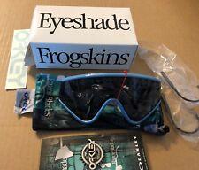 New Oakley Eyeshade Sunglasses Ice Blue  W/ Grey Retro Heritage Collection BNIB