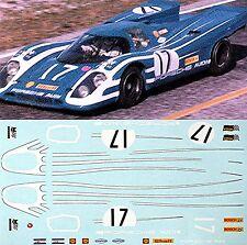 Porsche 917K - Equipo Porsche Audi - Sebring 1970 #17 - 1:24 Pegatina Adhesivo