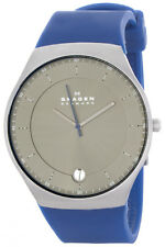 Skagen SKW6072 Balder Grey Dial Blue Silicone Strap Men's Watch