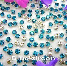 5mm Sew On Crystal Rhinestones 140 pcs SS24 Blue Zircon Birthstone December