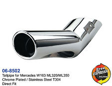 Exhaust tailpipe tips Chrome Plated S/S for Mercedes Benz W163 ML320 ML350