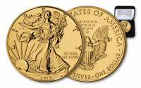 2019* $1 1-oz Silver American Eagle BU Gilded in 24 Karat Gold