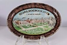 Antique Tin Litho Sears Roebuck Chicago Department Store Advertising Tip Tray