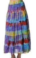 Nepalese Cotton tie dye summer long skirt with thin cotton lining