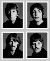 Beatles 4x Richard Avedon 8 x 10 single photos, real photographs, Paul McCartney