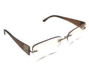 Silhouette 7599 40 6055 Brown Rimless Rx Eyeglasses Women's 17 135 Austria