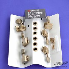 MECANIQUES VINTAGE GOTOH SD91 TELE STRAT 6 Pegs inLine NICKEL AGED RELIC