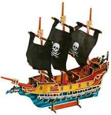 LARGE 40cm WOODEN PIRATE SHIP GALLEON BOAT MODEL 3D JIGSAW PUZZLE 1404