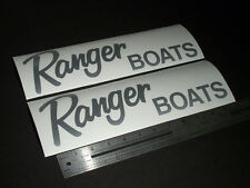 "Ranger Boats Silver Decal 12"" Stickers (Pair)"