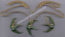 Star Trek: Next Generation Jewelry KLINGON Bird of Prey NECKLACE & EARRINGS SET!