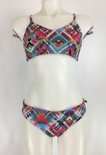 Fabiola Molina Two Piece Bikini Geo Color XL Top L Bottom Brazilian Swimwear NWT