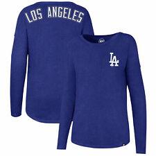 MLB Los Angeles Dodgers 47 Club Courtside LS T Shirt Top Womens