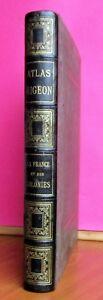 ATLAS MIGEON . ATLAS ILLUSTRE de 105 CARTES , VUILLEMIN M.,1880,in-folio