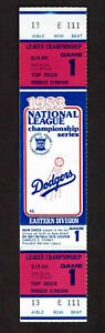1983  NLCS GAME 1  FULL TICKET STUB LOS ANGELES DODGERS vs PHILADELPHIA PHILLIES