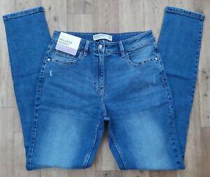 BNWT Ladies NEXT relaxed skinny jeans size 12 XL waist 30 long leg 35 new