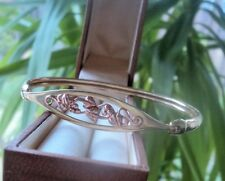 Clogau Welsh Gold 9ct Tree Of Life Bracelet / Bangle - Yellow & Rose Gold