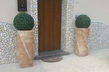 Vaso alto cemento e marmo da esterno giardino moderno rustico spirale grande