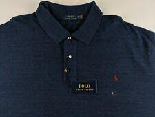 NEW Polo Ralph Lauren Men 4XLT 4XL Tall Heather Blue Polo Shirt Casual Pony T3