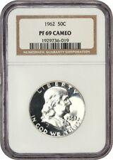 1962 50c NGC PR 69 CAM - Franklin Half Dollar