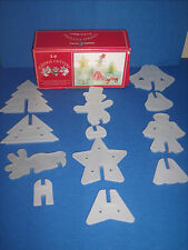 Nordic Ware Christmas set 6 3-D Standing Cookie Cutters