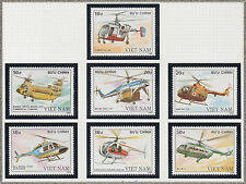VIETNAM 869/875** AVIONS HELICOPTERES, 1988 Vietnam 1949-1955 HELICOPTERS MNH