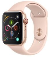Apple Watch Series 4 44mm Gold Case Pink Sand Sport Band GPS + Cellular Mint