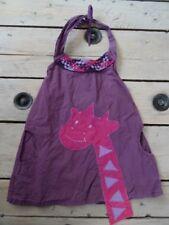 Robe violette dos nu sans manches avec Girafe NAMASTE... Taille 4 ans super état