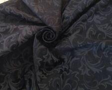 Black  Prestigious Jacquard Brocade  Curtain Upholstery Fabric 70 Metre Roll
