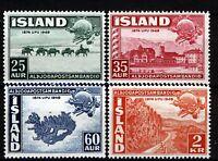 Iceland 1949, UPU Set XF MNH