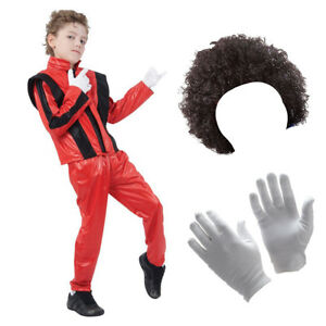 Children's Michael Jackson Inspired Thriller Costume for kids Fancy Dress 1980's
