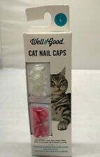 Well & Good Paint Free Adhesive Cat Nail Caps for Claws Large