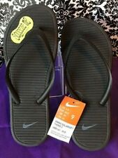 Women's Nike SOLARSOFT THONG 2 Flip Flops Sandals  488161 090 Black Grey SIZE 9