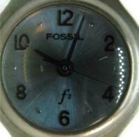 Woman Fossil F2 Watch Quartz Stainless Steel Band WR 30M Girls Ladies Wristwatch
