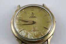 Vintage Omega Watch Automatic Bumper Movement 14k gold plated case for repair