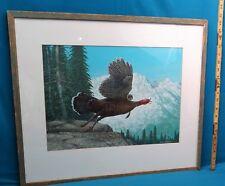 "George Luther Schelling, ""Western Wild Turkey"", Acrylic on Board, Original"