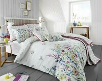 200 Thread Count Cotton Rich King Duvet Cover Set Colourful Floral Design