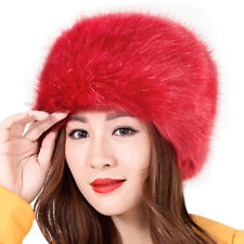 Fashion Ladies Womens Glamorous Faux Fur Russian Cossack Hat Winter Warm Cap BKB