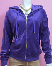 Juicy Couture Modern Fit Tracksuit Jacket Hoodie Purple Violet XL Relaxed $108