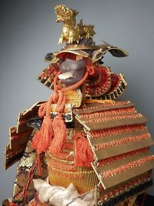 JAPANESE VINTAGE YOROI KABUTO DOLL DISPLAY ORNAMENT DRAGON MAEDATE MAY FESTIVAL