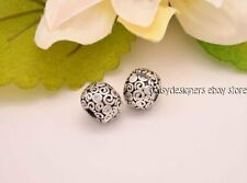Authentic Pandora Silver WIND CLIP PAIR Clear Charm 790962CZ RETIRED