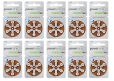 Power one hearing aid batteries (Size 312) - 10 cards (60 cells). MF