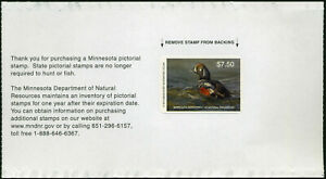 MINNESOTA #39 2015 STATE DUCK STAMP HARLEQUIN DUCK BY Scot Storm