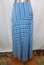 Nwt $78 Max Edition Blue Stripe Jersey Maxi Skirt.....L