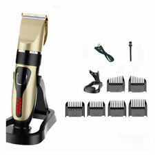 Professional Hair Clippers Mens Barber Trimmer Hair Cutting Machine Kit Cordless