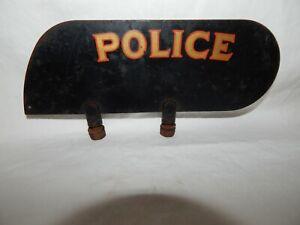 1930's HARLEY DAVIDSON POLICE MOTORCYCLE FENDER PLATE > 100% ORIGINAL PAINT.
