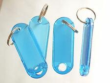 50 Schlüsselanhänger  Schlüsselschilder Anhänger m Etiketten Hart BLAU