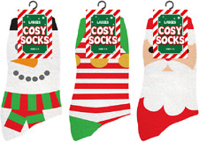 Christmas Ladies Soft FLUFFY Lounge COSY SOCKS Bed Winter Warm Slipper Stocking