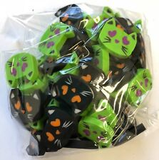 50 Mini Halloween Kitty Cat Shaped Erasers Teacher Supply Sorting Math Counter