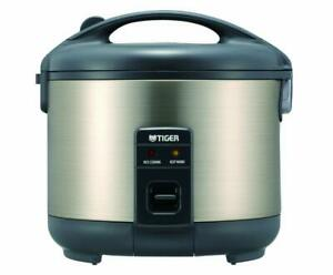 NEW * Tiger JNP-S10U-HU 5.5-Cup (Uncooked) Rice Cooker and Warmer, Stainless Ste