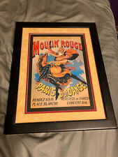 Moulin Rouge Movie Poster Framed, Rare Print, Great Condition.